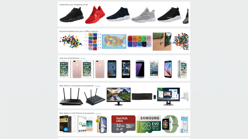 home page suggestions