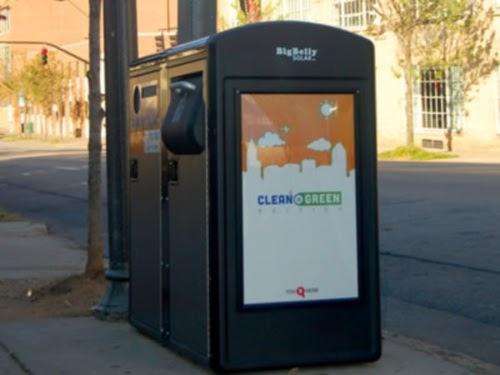 Wi-Fi-enabled trash bins