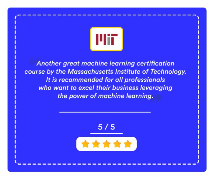 Machine Learning Certification: From Data To Decision By Mit