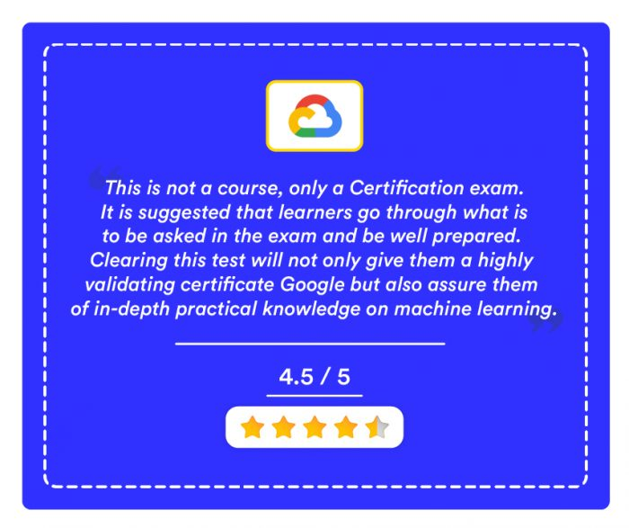 Professional Machine Learning Engineer Certification By Google Cloud