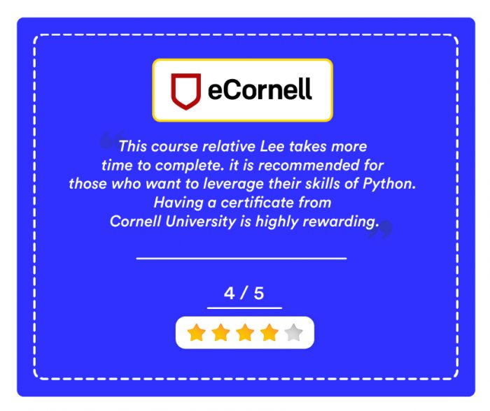 Ecornell Machine Learning Certificate