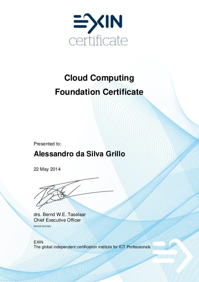EXIN Certified Integrator Secure Cloud Services