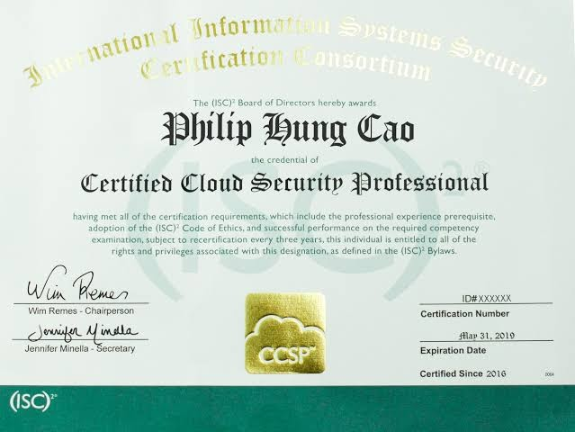 Certified Cloud Security Professional