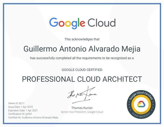 Google Professional Cloud Architect
