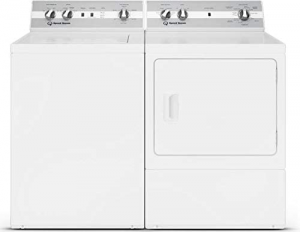 """Speed Queen Laundry Pair TC5000WN 26"""" Top Load Washer and DC5000WE 27"""" Electric Dryer"""
