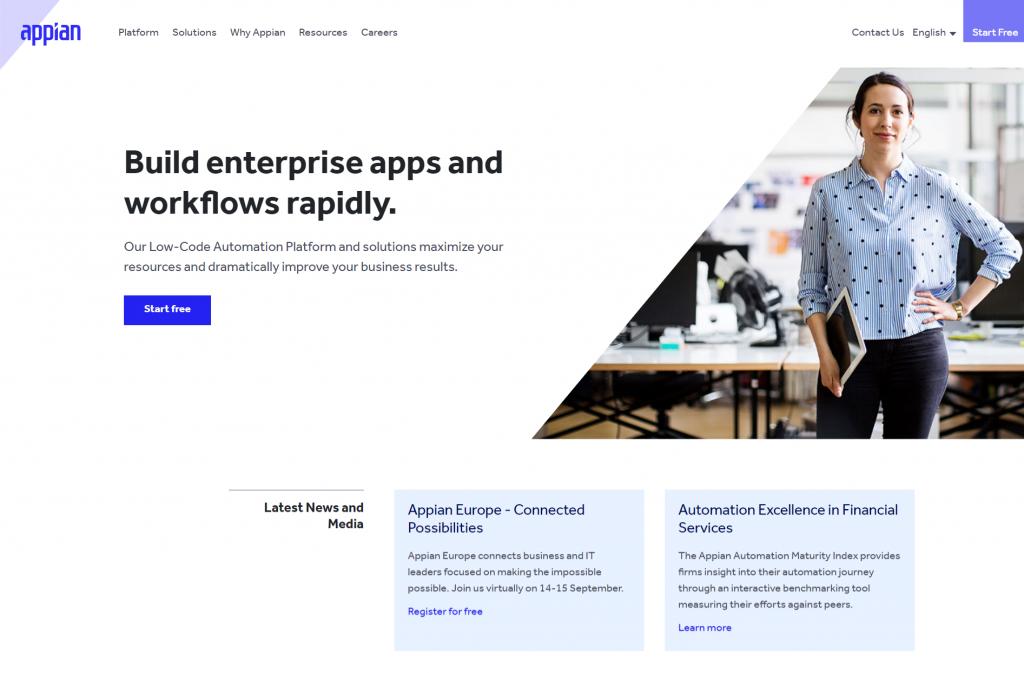 Appian's intelligent automation platform
